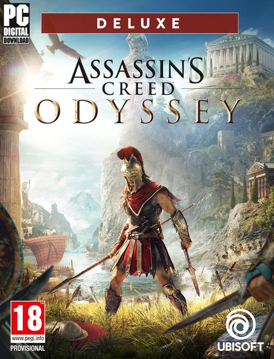 Assassin's Creed Odyssey Deluxe Edition with DLCs PC Download Windows  Computer Game