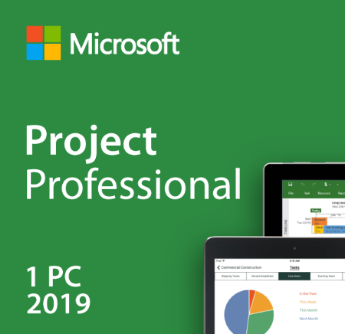 Microsoft Windows Project Professional 2019 License Key Code Product USB Drive with License