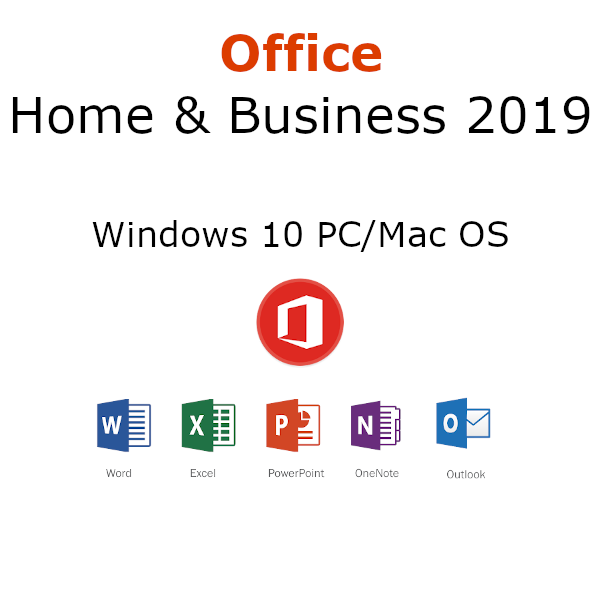 Microsoft Office 2019 Home & Business 1 User PC or Mac