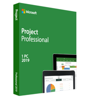 Microsoft Project Professional 2019 32 or 64 bit Windows 1 PC