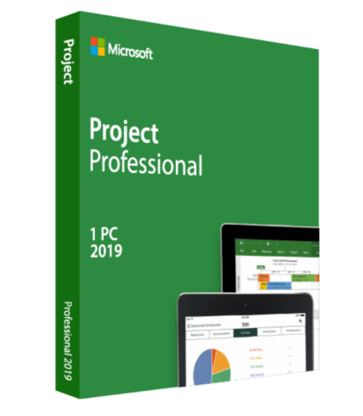 Microsoft Project Professional 2019 Retail Version 32 bit/ 64 bit Windows 1 PC