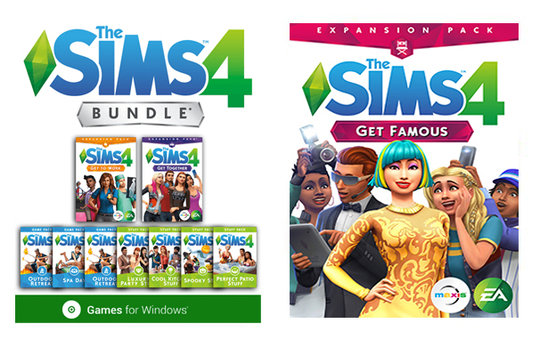 The Sims 4 Deluxe Bundle Collection + Get Famous Expansions PC Download Windows Computer Game