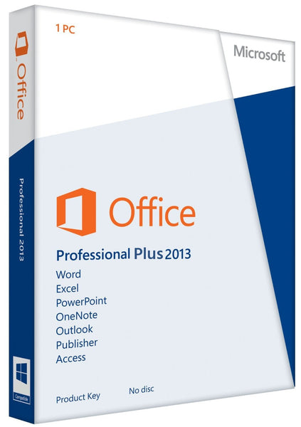 Microsoft Office 2013 Professional Plus for Windows PC Product License Code 1 PC