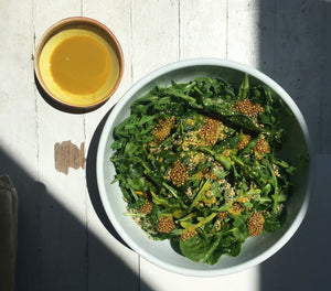 Bitter Greens & Seeds Salad + An Intro To Seed Cycling
