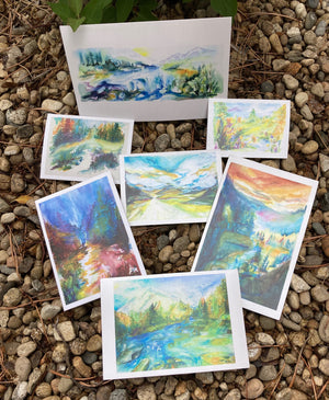 NestingCards - Watercolors with Quotes by Beth Suter
