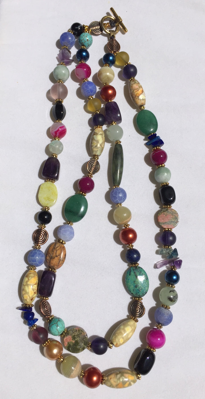 Beaded Glass Necklace: Double-strand All Occasion
