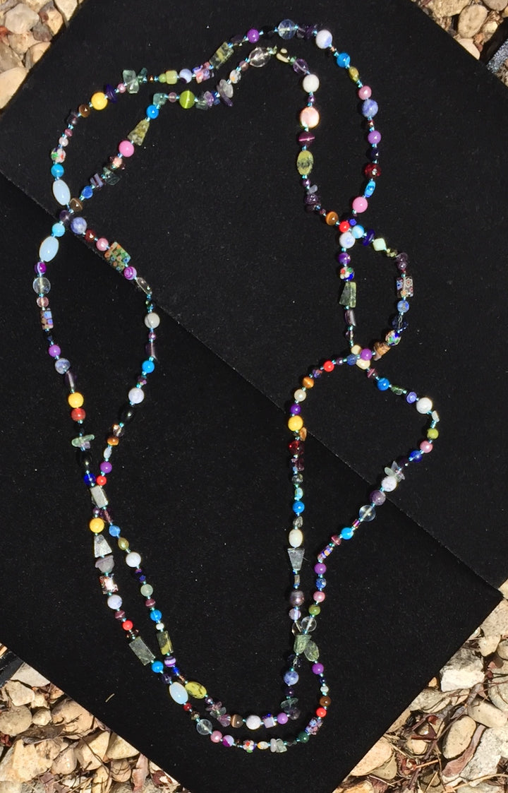 Beaded Glass Necklace: Tiny Treasures