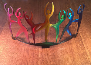 Sculpture: Dance of Rainbow Hues