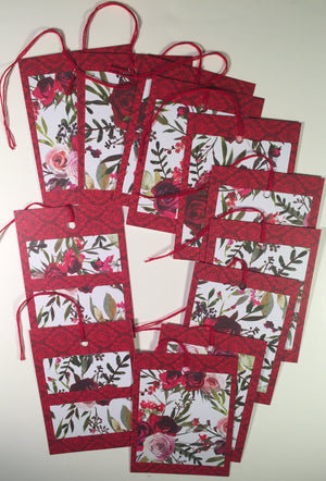 Gift Tags: Crimson Floral 12