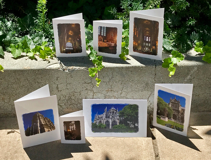 Nesting Cards - Notre Dame Before the Fire, by Peg Owens