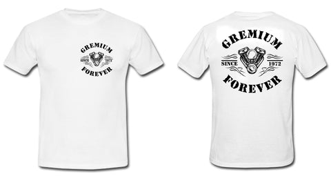 T-SHIRT 'GREMIUM FOREVER' WEISS