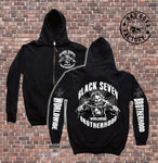 KAPUZENJACKE 'BLACK SEVEN-Brotherhood'