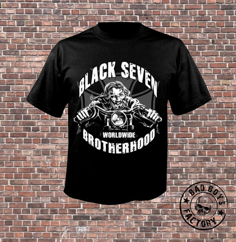 T-SHIRT 'BLACK SEVEN-BROTHERHOOD'