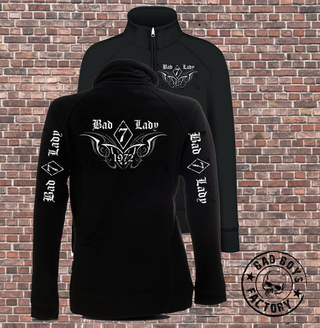 SWEATSHIRT-JACKE 'BAD LADY 1972'