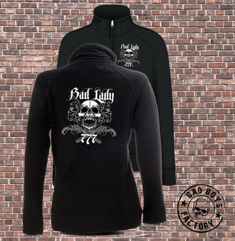 SWEATSHIRT-JACKE 'BAD LADY SKULL'