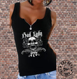 "TOP ""BAD LADY SKULL"""