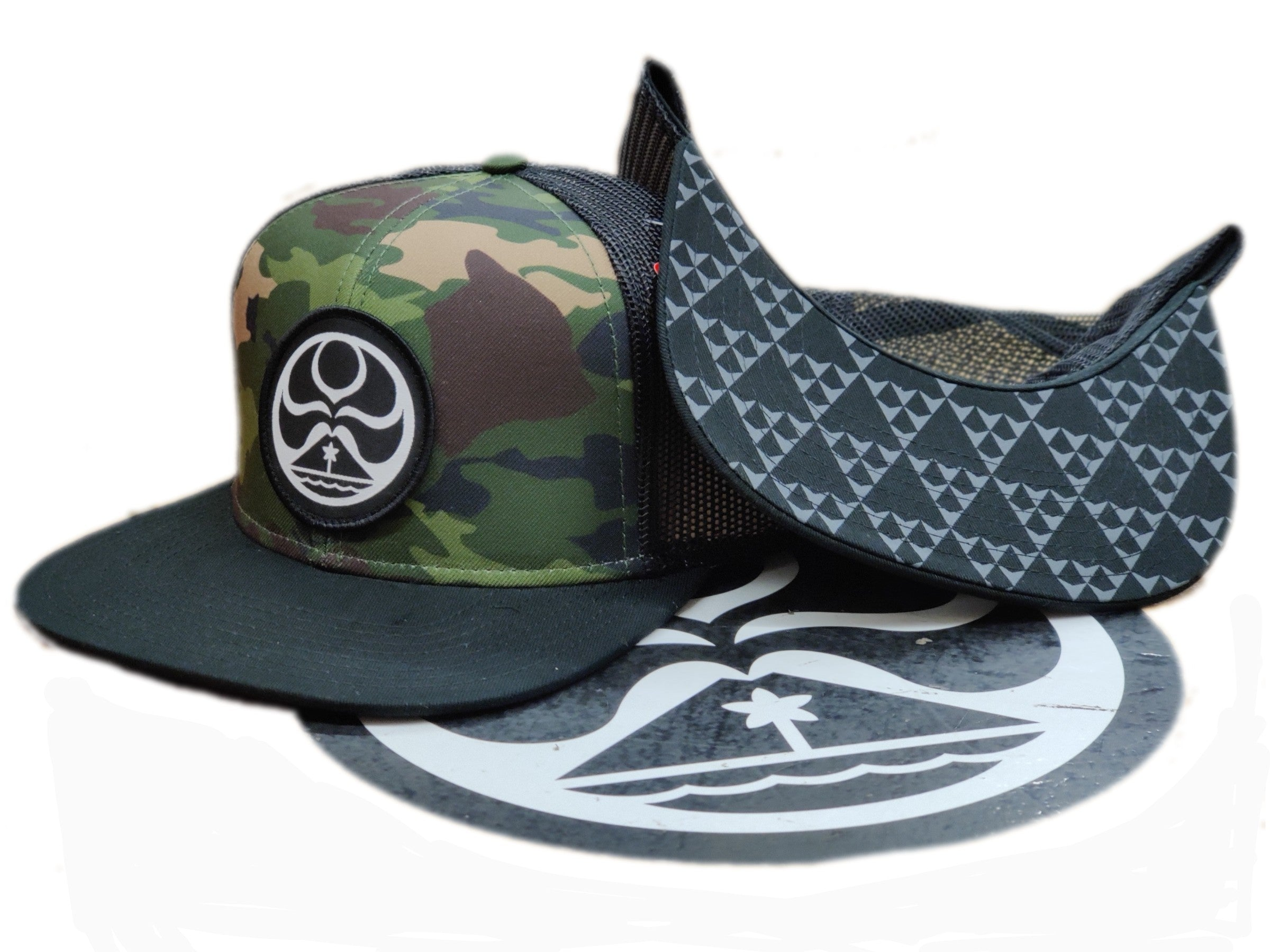 Army Beach Trucker Hat