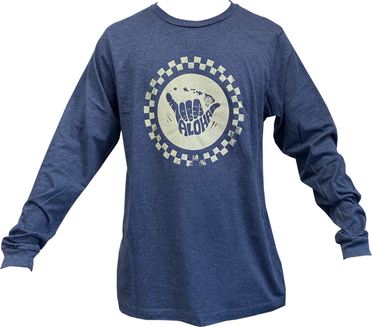 Checka Shaka Long Sleeve Tee