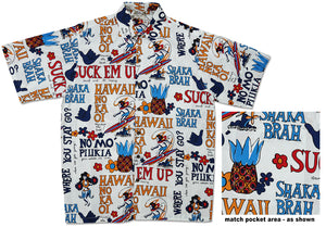Pidgin English Aloha Shirt