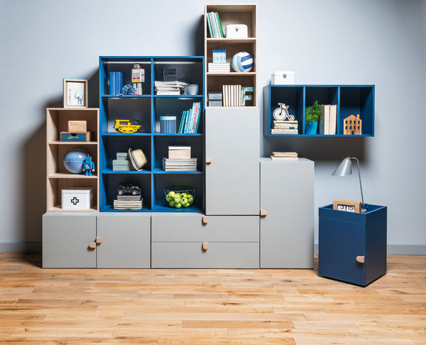 Bookcase blue and green Stige Young Vox collection
