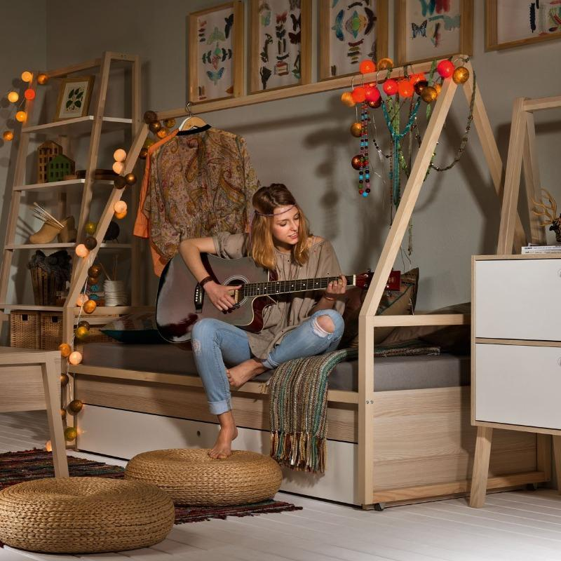 Tipi bed with bottom bed - Voxfurniture.ae