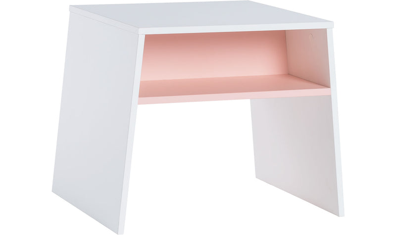 Tuli Table with two stools - white/ pink