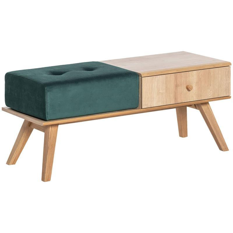 Bench with drawer and cushion