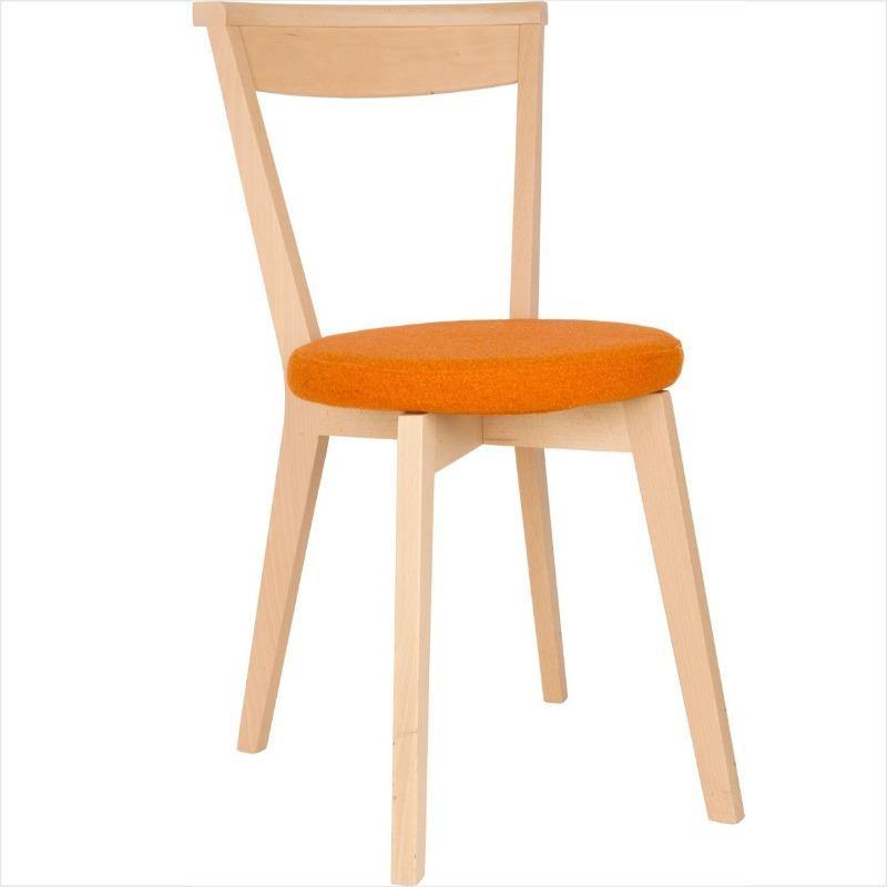 Closer swivel chair orange