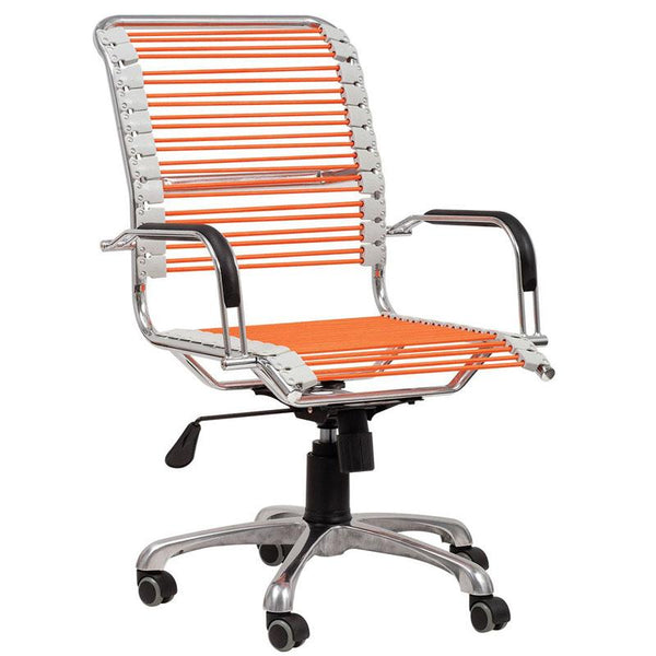 Jungle swivel chair- Orange - Voxfurniture.ae