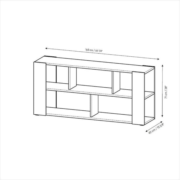 4You Double sided bookcase low - Voxfurniture.ae