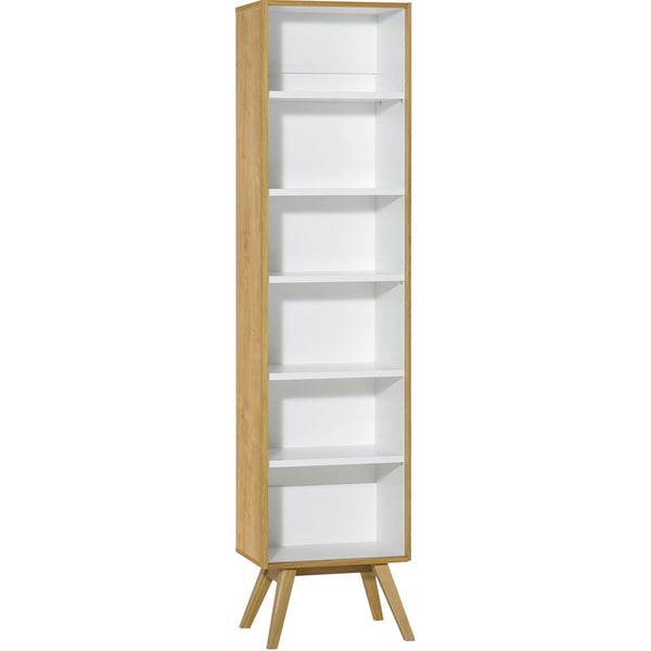 Narrow open bookcase