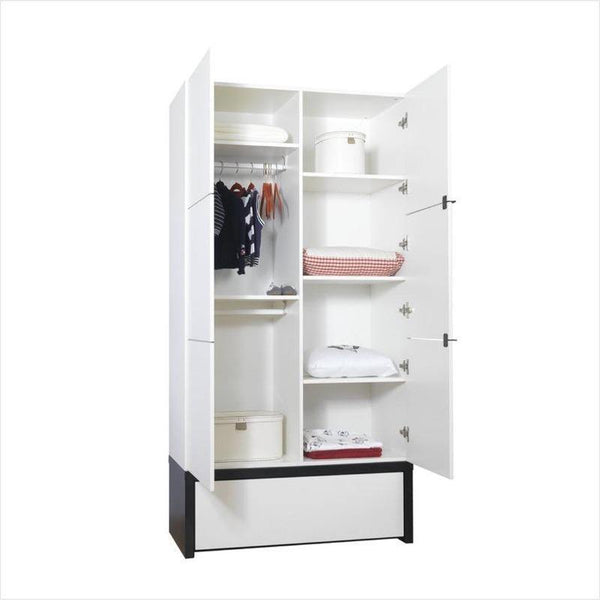 Young User 2 Door wardrobe with drawer