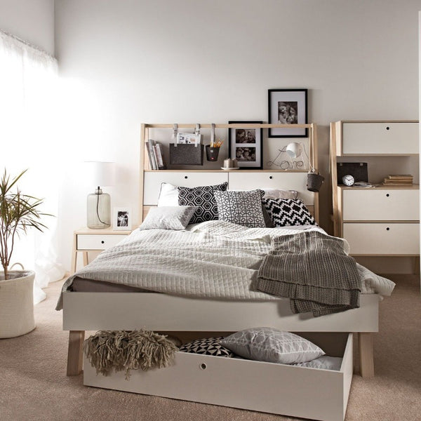 Double bed with storage headboard 160x240