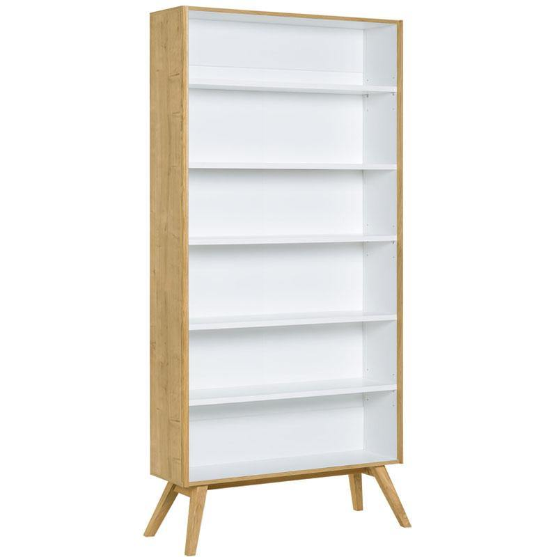 Wide bookcase open