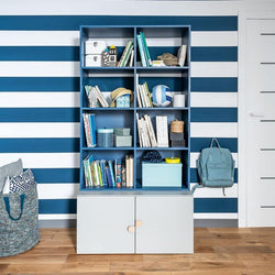 Bookcase - Blue - Voxfurniture.ae