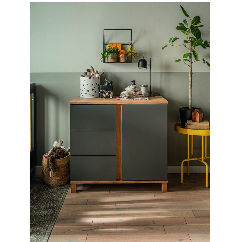 Dresser with changer- graphite - Voxfurniture.ae
