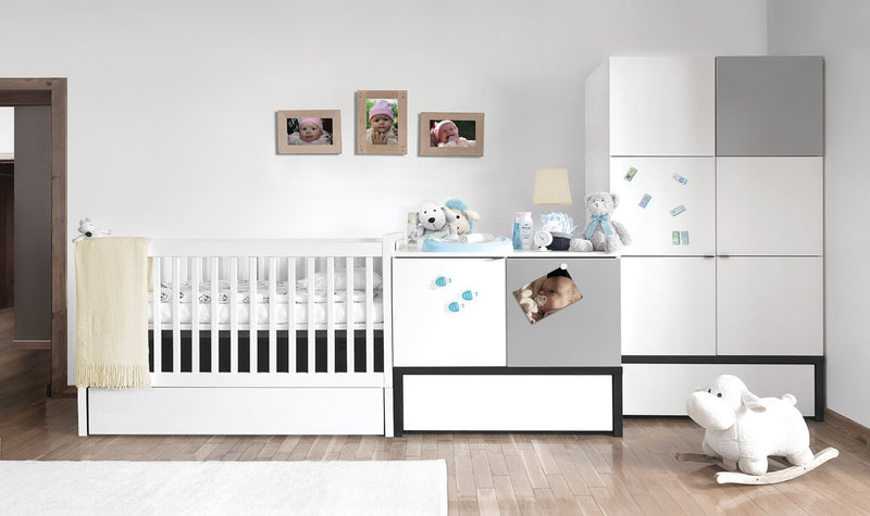 2 Door Wardrobe with Drawer - Young user - Baby Vox - Voxfurniture.ae