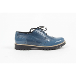 V 1969 Italia Womens Oxford Shoe MARGIE 5 VER. PRIN. BLU