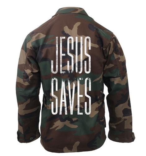 Jesus Saves Camo Jacket