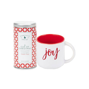 A Cup of Christmas Tea with Joy Mug