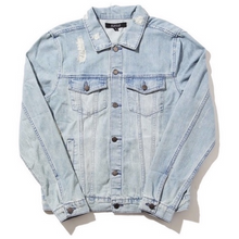 Load image into Gallery viewer, Peace is Power Denim Jacket Front