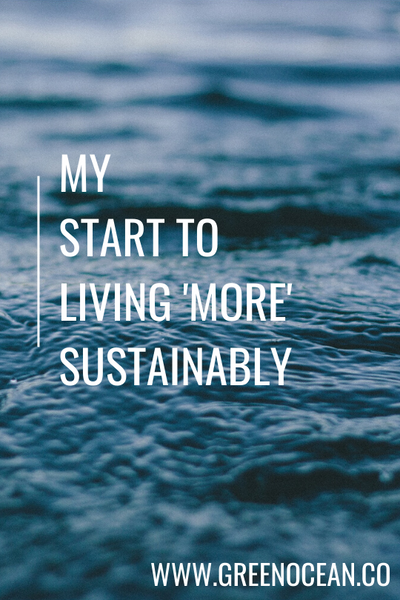 My Start to Living 'More' Sustainably