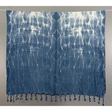 Load image into Gallery viewer, hand dyed turkish cotton towel blue absorbent compact travel towel