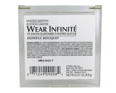 L'Oreal Limited Edition Wear Infinite Eye Shadow Quad- Hopeful Bouquet