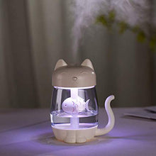 Load image into Gallery viewer, 3 in 1 Ultrasonic Cool-Mist 350ML USB fan Cat Humidifier With LED Light