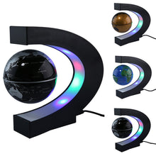 Load image into Gallery viewer, Home Floating Globe C Shape Magnetic Levitation World Map With LED Light