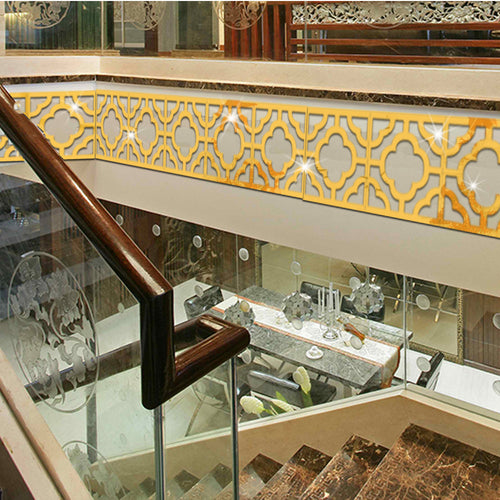 Stickers On The Ceiling Waist Line Baseboard Acrylic Mirrored Decorative Mirror Wall Stickers DIY Stickers Muraux Home Decor