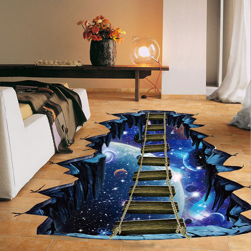 3d Diy Cosmic Bridge/Space Wall Sticker/Floor Sticker
