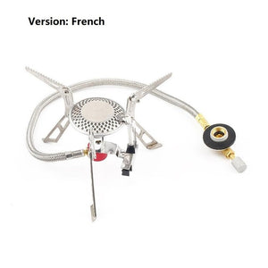 Portable Mini Foldable Stainless Steel Gas Stove Camping Equipment