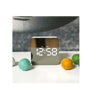 Digital/Thermometer Mirror Wall/Desk LED Night Light Alarm Clock